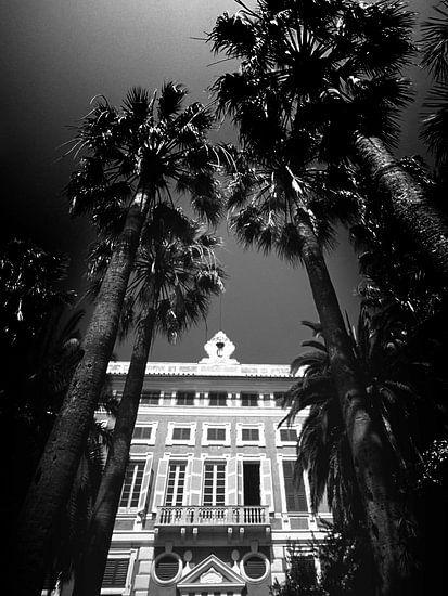 Alte Villa, Italien (Schwarz-Weiß)