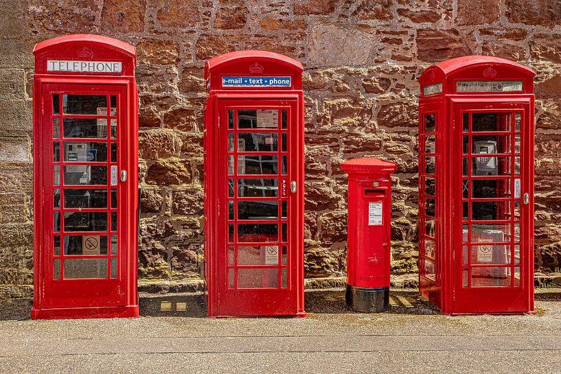 Rote Telefonzellen England von Gert Hilbink