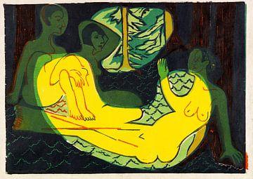 Drei Akte im Walde, ERNST LUDWIG KIRCHNER, 1933-1934 von Atelier Liesjes
