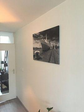 Klantfoto: SS Rotterdam zwart / wit van Anton de Zeeuw