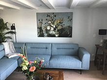 Kundenfoto: Stillleben mit Blumen, Anonym, auf leinwand