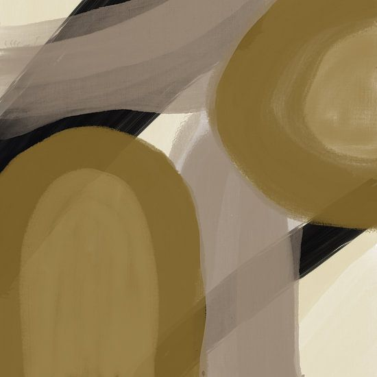 Modern abstract - amica gold