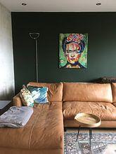 """Kundenfoto: FRIDA """"Rosa Blumen"""" von Kathleen Artist Fine Art, auf alu-dibond"""