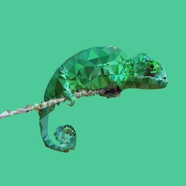 Kameleon van Low Poly