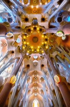 Das Innere der Sagrada Familia in Barcelona von Chihong