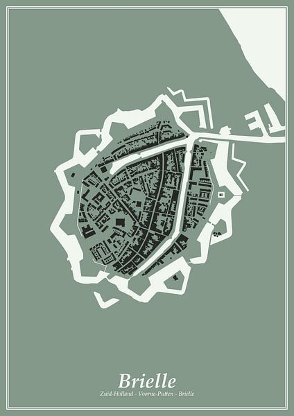 Festungsstadt - Brielle von Dennis Morshuis