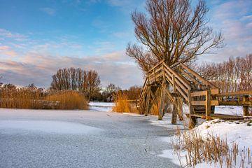 Kakelepost Schagen in de winter.