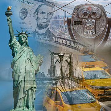 New York Collage van Nico Garstman