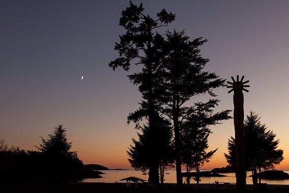 Zonsondergang Vancouver Island