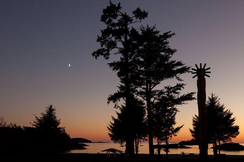 Zonsondergang Vancouver Island van Stefan Verheij