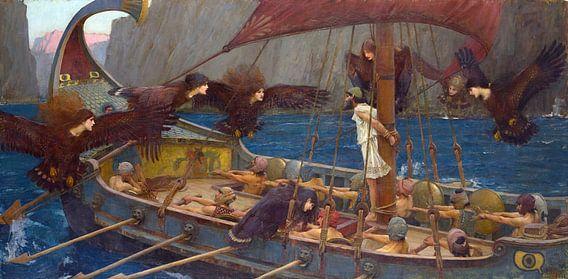 John William Waterhouse - Ulysses and the Sirens van 1000 Schilderijen