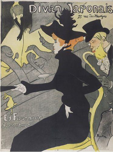 Affiche voor het café-concert Le Divan Japonais van Prints in Paris