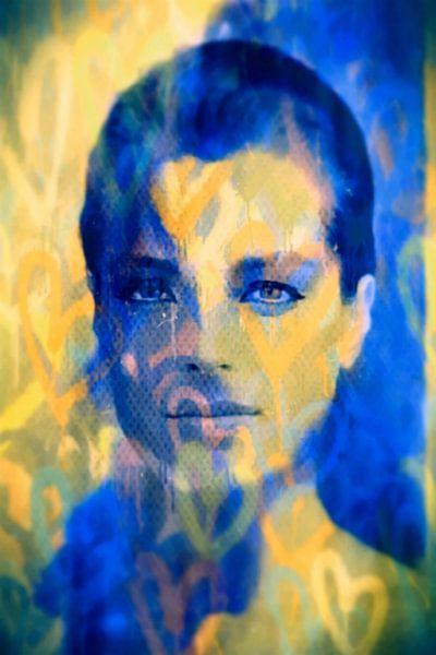 Romy Schneider Love Pop Art PUR van Felix von Altersheim