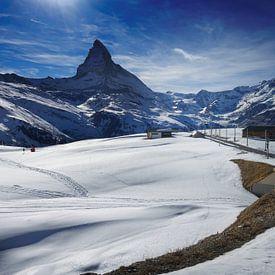 Gornergrat trein met de Matterhorn in de Zwitserse Alpen van iPics Photography