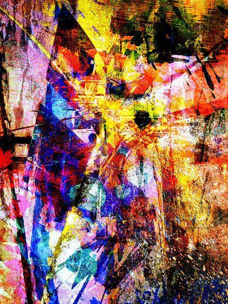 Modern, Abstract kunstwerk - Virtual Insanity (Part 2) van Art By Dominic