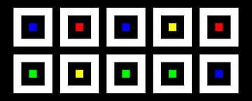 Nested | Center | 05x02 | N=02 | Random #16 | RGBY van Gerhard Haberern