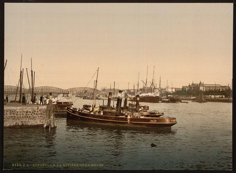 Maas, Rotterdam van Vintage Afbeeldingen