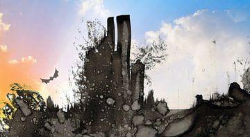 Fictief landschap B van Gertrud Scheffler