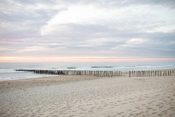 Strand met paalhoofden | Zeeuwse kust van Andrea Labeur