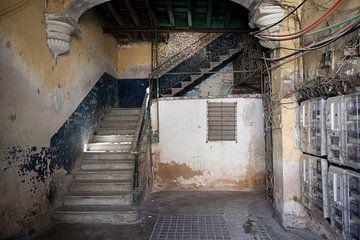 Escalier à La Havane, Cuba sur Kees van Dun