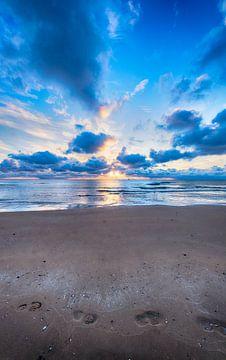 Des pas sur la plage sur Alex Hiemstra