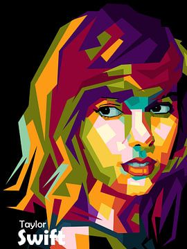 Taylor Swift geweldige popart van miru arts