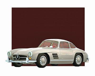 Oldtimer – Mercedes 300SL Gullwings 1964 von Jan Keteleer