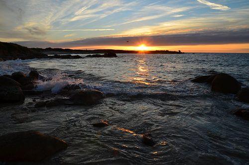 Sunset in Brittany van