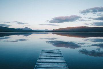 Middernachtzon in Zweeds Lapland von