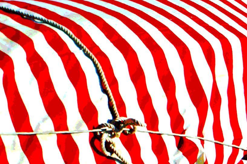 Red Stripes Tied van Yannik Art