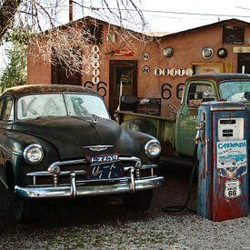 Oldtimers bij Route 66 | Auto van Claudia Maglio
