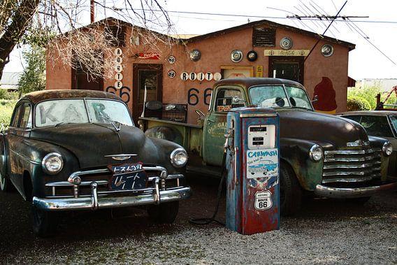 Oldtimers bij Route 66   Auto