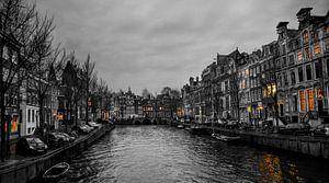 Grachten Amsterdam van Johnny van der Leelie