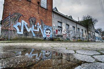 Street art België van Mark Bolijn