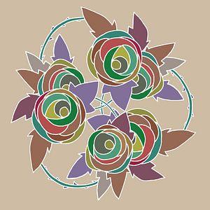 Les Roses dessin nr 5