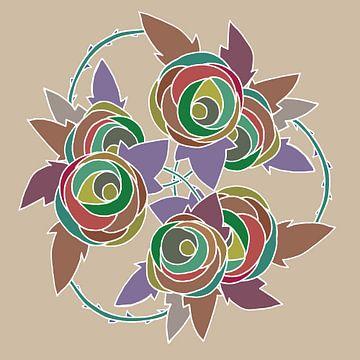Les Roses dessin nr 5 sur
