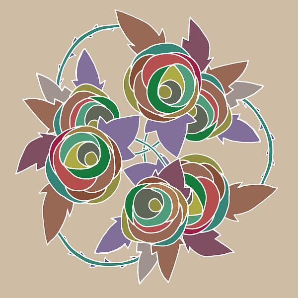 Les Roses dessin nr 5 sur MY ARTIE WALL