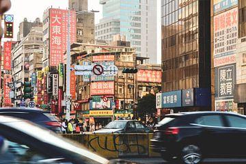 Rue à Taipei. La couleur. sur Erik Juffermans