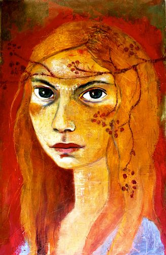 Meisje met rood haar van