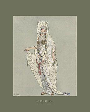 Sophonisbe - Antike Kostüm-, Vintage- und Retro-Mode-Drucke von NOONY