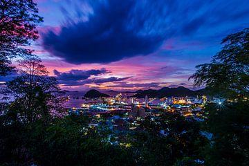 Haven bij nacht, harbour at night.