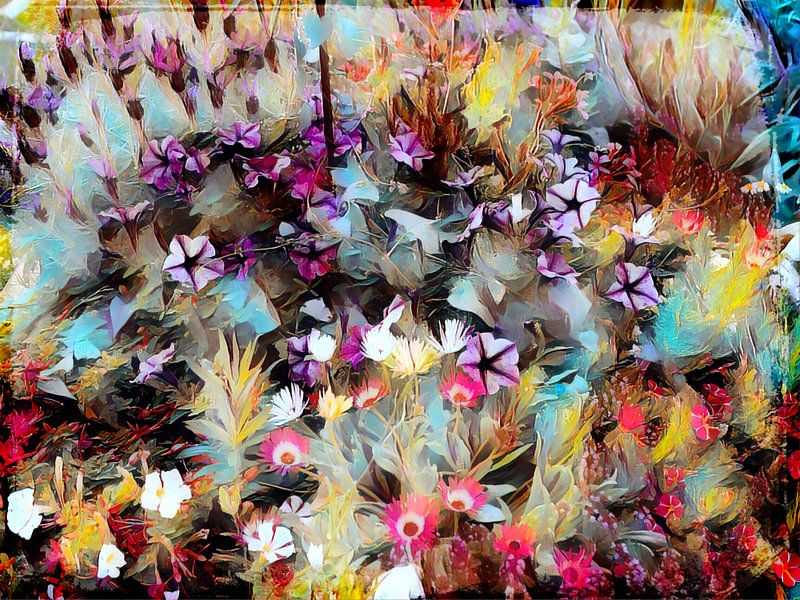 Blumenwiese Ölmalerei von Patricia Piotrak