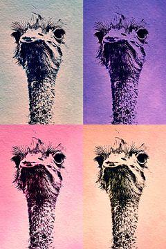 Vogelboeket in 4 kleuren van Liane Leddermann