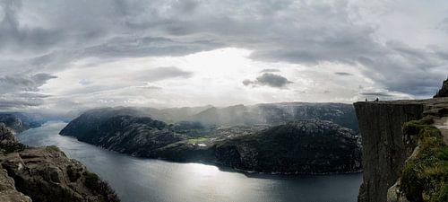 Preikestolen rock in Norway