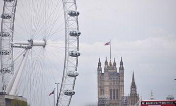 London Eye + Westminster van Marjolijn van Calker