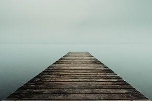 Mist over het Sempach-meer van Stefan Heesch