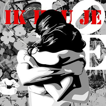 Berühmte Liebe Paare - 'Umarmung' von Jole Art (Annejole Jacobs - de Jongh)