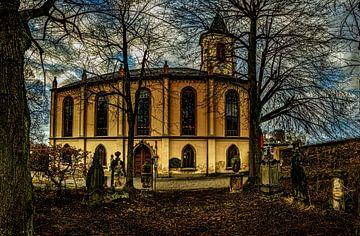 Kirche in Lößnitz / Erzgebirge von Johnny Flash