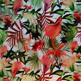 Rode bloemen. van Angel Estevez