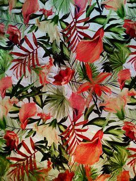 Rote Blume. von Angel Estevez